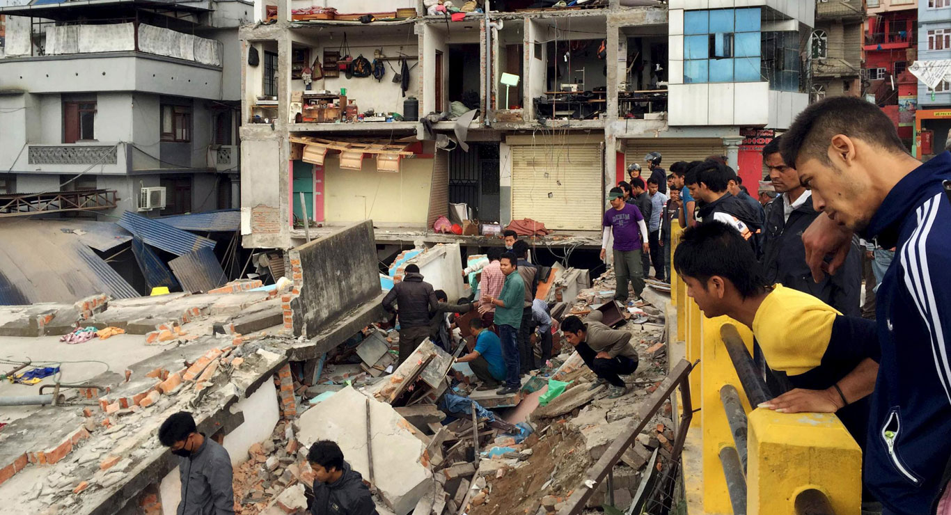 2015 Earthquake Photo credit of Navesh Chitrakar